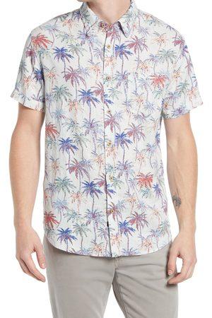 Rails Men's Carson Palm Print Short Sleeve Button-Up Shirt