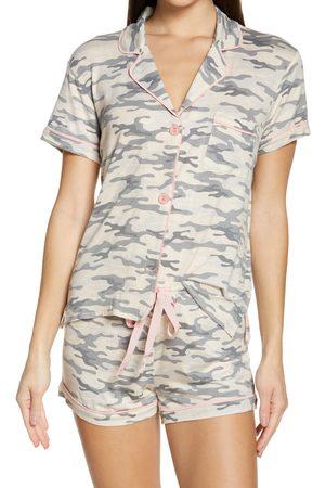 P.J.Salvage Women's Notch Collar Short Pajamas