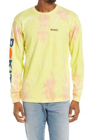 ROKIT Men's Abstract Tie Dye Long Sleeve Logo Graphic Tee
