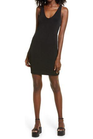 Open Edit Women's Sleeveless Body-Con Minidress