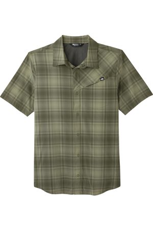 Outdoor Research Men's Astroman Check Short Sleeve Snap-Up Sun Shirt