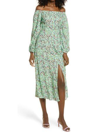 AFRM Women's Off The Shoulder Long Sleeve Dress