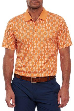 Robert Graham Men's Baritone Golf Print Short Sleeve Performance Golf Polo