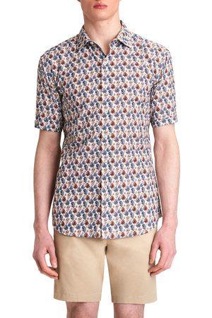 Bugatchi Men Short sleeves - Men's Shaped Fit Print Short Sleeve Button-Up Shirt