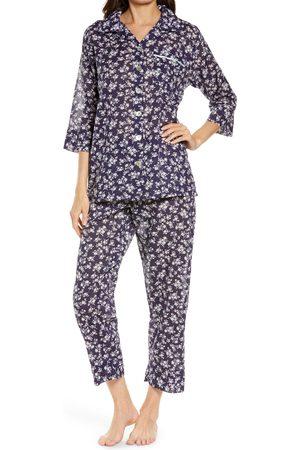 Papinelle Women's Potager Floral Crop Pajamas