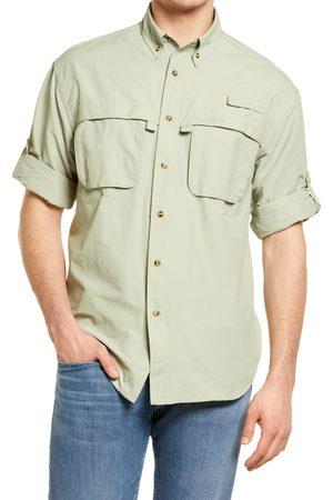 L.L.BEAN Men's L.l. Bean Tropicwear Long Sleeve Button-Up Shirt