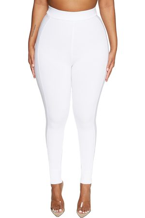 Naked Wardrobe Women's Snatched To The Side Ribbed Leggings