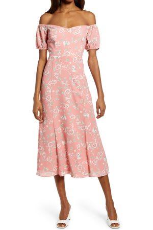 WAYF Women's The Ensley Off The Shoulder Midi Dress