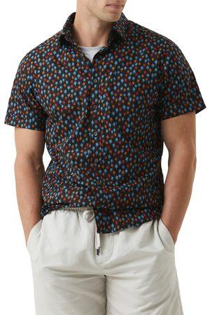 Rodd & Gunn Men's Masterton Sports Fit Print Short Sleeve Button-Up Shirt