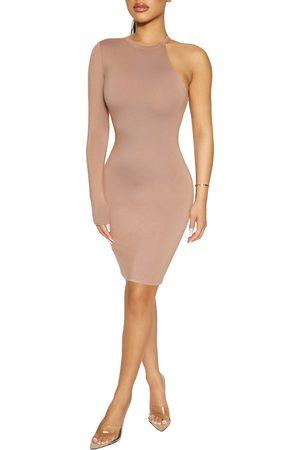Naked Wardrobe Women's On One-Shoulder Body-Con Minidress
