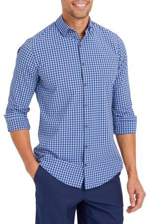 Mizzen+Main Men's Leeward Trim Fit Lightweight Plaid Performance Button-Up Shirt