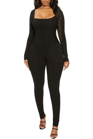 Naked Wardrobe Women's The Snatched Vibes Long Sleeve Jumpsuit