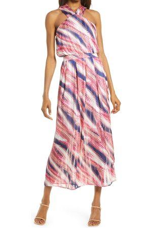 Chelsea Women's Halter Chiffon Maxi Dress