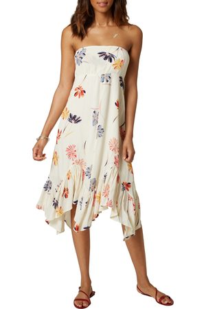 O'Neill Women's Carolina Floral Strapless Asymmetric Dress