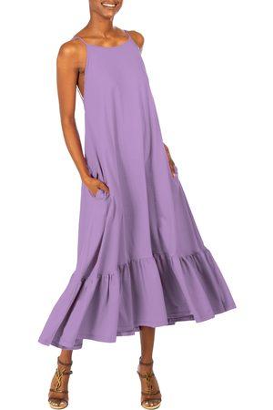 DAI MODA Women's Flounce Hem Backless Sundress