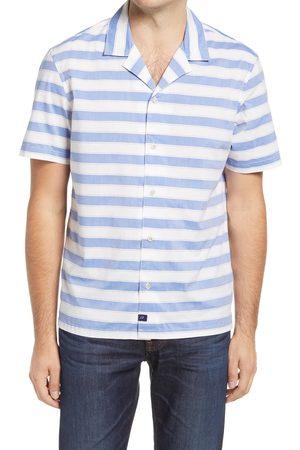 Johnnie-o Men's Cabana Stripe Short Sleeve Button-Up Camp Shirt