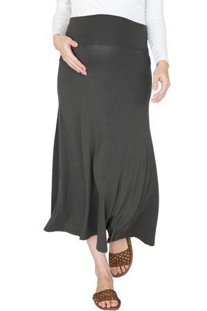Angel Maternity Women's Jersey Maternity Maxi Skirt