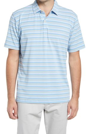Peter Millar Men's Drirelease Natural Touch Stripe Short Sleeve Performance Polo
