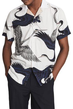 Reiss Men's Gigi Print Short Sleeve Button-Up Shirt