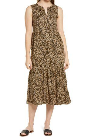 Beachlunchlounge Women's Ireana Tiered Ruffle Midi Dress