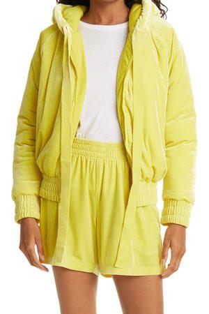 Norma Kamali Women's Velvet Hooded Bomber Jacket