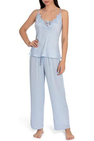 Jonquil Women's Pearl Satin & Lace Pajamas