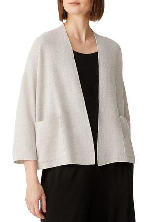 Eileen Fisher Women's Open Front Organic Linen & Cotton Cardigan