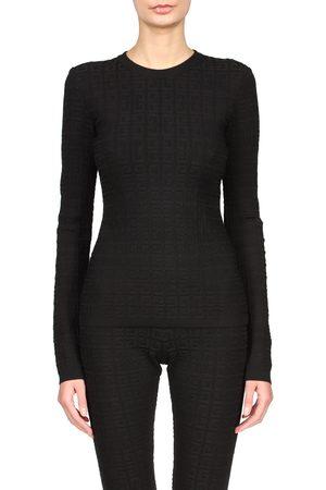 Givenchy Women's Logo Jacquard Crewneck Sweater