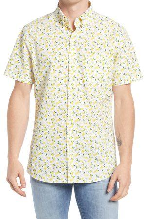 Nordstrom Men's Big & Tall Tech-Smart Print Short Sleeve Button-Up Shirt