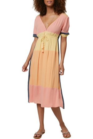 O'Neill Women's Phaedra Tie Waist Midi Dress