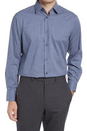 Nordstrom Men's Traditional Fit Non-Iron Chambray Dress Shirt