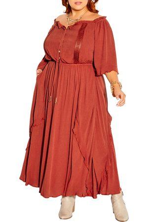 City Chic Plus Size Women's Angel Off The Shoulder Dress