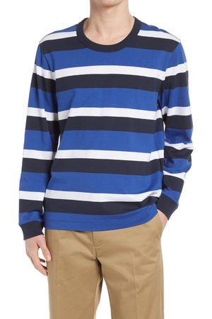 CLUB MONACO Men's Triple Stripe Long Sleeve T-Shirt