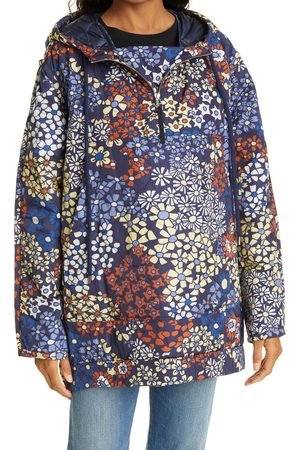 SEA Women's Floral Quilted Hooded Anorak