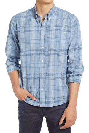 BILLY REID Men's Offset Pocket Check Button-Down Shirt