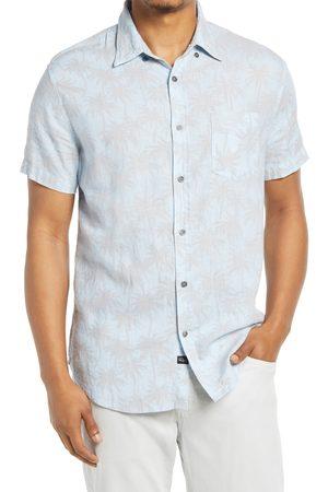 Rails Men's Shadow Palms Linen Blend Short Sleeve Button-Up Shirt