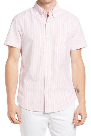BONOBOS Men's Slim Fit Stretch Short Sleeve Button-Down Shirt