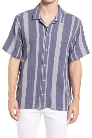 Madewell Men's Emery Stripe Easy Short Sleeve Camp Shirt