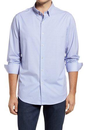 Bugatchi Men's Geometric Print Ooohcotton Tech Button-Up Shirt