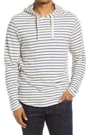 Marine Men's Men's Stripe Slub Cotton Hoodie