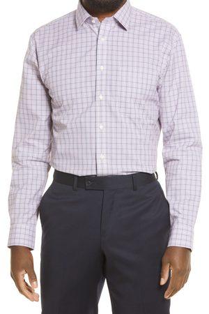 Nordstrom Men's Smartcare Trim Fit Plaid Dress Shirt