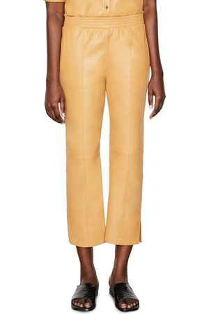 Frame Women's Leather Crop Gym Pants
