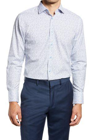 Nordstrom Men's Trim Fit Floral Stretch Non-Iron Dress Shirt