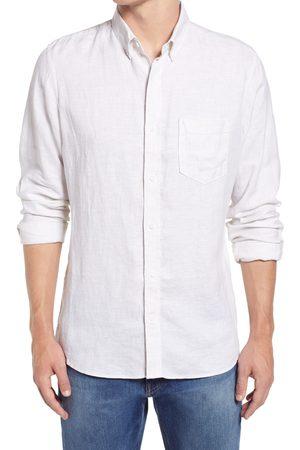 Nordstrom Men's Big & Tall Trim Fit Solid Linen Button-Down Shirt