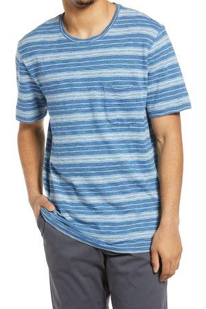 Treasure & Bond Men's Men's Indigo Stripe Pocket T-Shirt