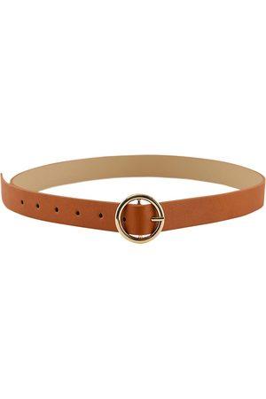 Pieces Women Belts - Bonna 85 cm Cognac / Detail Gold Buckle