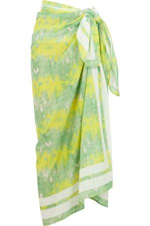 Ganni Women Beachwear - Printed cotton sarong
