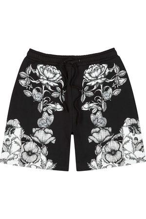 VALENTINO Men Shorts - Monochrome printed cotton shorts