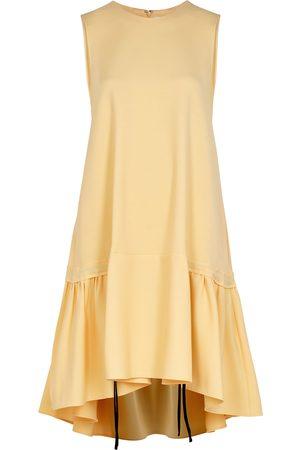 Victoria Beckham Women Dresses - Yellow flared-hem dress
