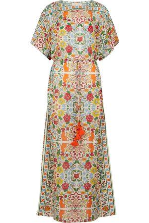 Tory Burch Women Beach Dresses - Floral-print cotton-blend kaftan